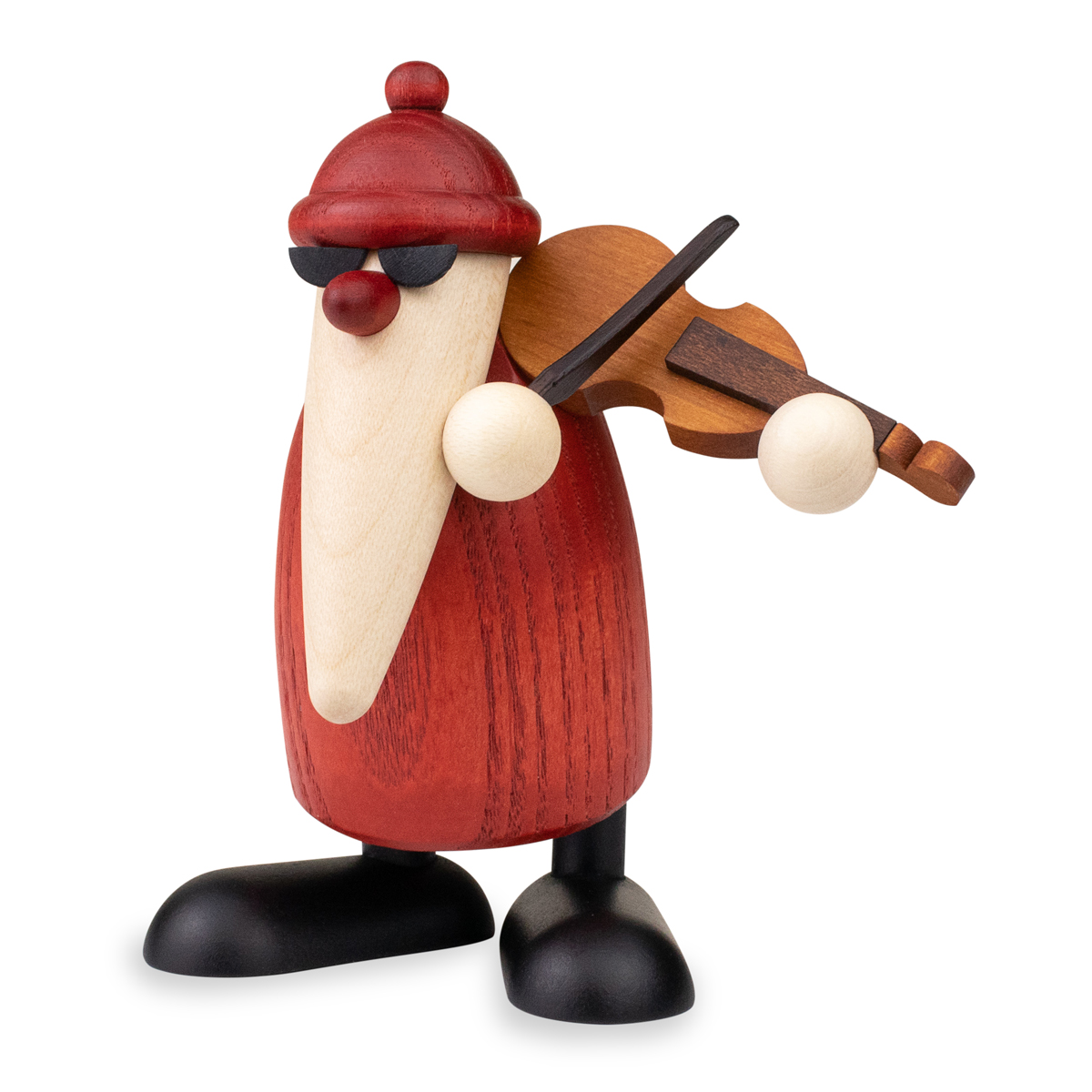Bjoern Koehler Kunsthandwerk - NEW: Santa Claus playing the violin, small